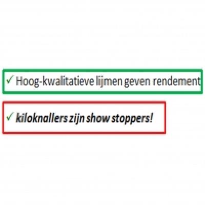 """""""Kiloknallers zijn show stoppers"""""""